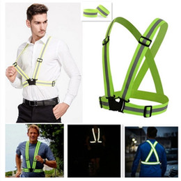 Wholesale Set Of Reflective Vest Bands Adjustable Safety Security High Visibility Running Gear Stripes New Arrivals