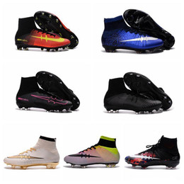 CR7 Superflys Football Boots Mercurial Superfly FG AG Mens Soccer Boots What The Superfly Cleats Soccer Shoes High Ankle Soccer Cleats New