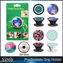 Wholesale 30 designs PopSockets Expanding Stand and Grip for Tablets Stand Bracket Phone Holder Pop Socket M Glue for iPhone Note7