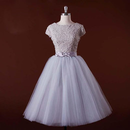 New Arrival Cap Sleeves Purple Real Pictures Of Cocktail Party Dresses 2017 Bateau Neck Beads Lace Bow Formal A-Line Tulle Prom Gowns Custom