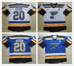 2016 New, 2015 New St. Louis Blues Jerseys Ice Hockey Jersey Embroidery And Stitched #20 Alexander Steen Blue white jersey