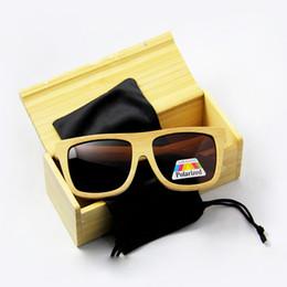 2017 lentes polarizadas 2016 la vendimia caliente de las gafas de sol de bambú de las gafas de sol del bambú de la nueva vendimia polarizó el envío libre clásico descuento lentes polarizadas