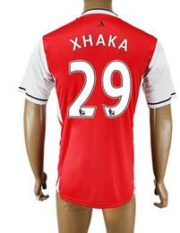 Wholesale Popular Customized Thai Quality Arsenal HOME XHAKA Soccer Jerseys Shirts Tops NEW men RAMSEY WILSHERE OZIL Soccer Jerseys