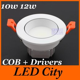 Wholesale BIG Discount W W Dimmable COB LED Downlights Dimmable Energy Saving Tiltable Fixture Recessed Down Lights CSA SAA CE ROHS UL
