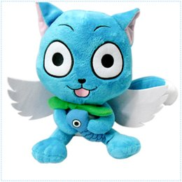 "Hot Sale 7"" 18cm Japanese Anime Cartoon Fairy Tail Happy Plush Toy Stuffed Animals Plus Toy Gifts"
