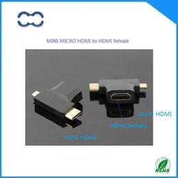 Good quality and RoHS approved 5PCS mini HDMI male micro HDMI male to HDMI female adapter