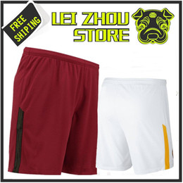 Thai quality TOTTI jersey 2017 Rome sports shorts 17 18 EL SHAARAWY Florence de Ross JESUS DZEKO PEROTTI NAINGGOLAN ROMAS soccer shorts