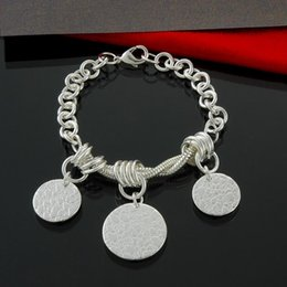 Factory direct wholesale and retail 925 Silver 3 round magic Bracelet Silver Jewelry
