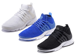 Wholesale New Sportswear Presto Ultra Sneakers Mid Classic Cage Overlay Sock like Ankle Men Women Youth Royal blue Teal All white Black Running Shoes