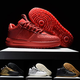 Wholesale High Quality Air Force KPU Men Running Shoes Skateboarding Sneaker Sports Trainers Air Force One Shoes Gold
