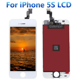 Wholesale Quality AAA W B for iPhone S LCD Digitizer Assembly with OEM Glass Replacement Great Packaging Free DHL Shipping