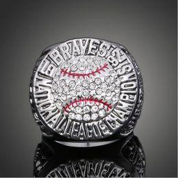 Wholesale High Quality Heavy Atlanta Braves World Series Championship Ring Sport Fan Best Gift Men Jewelry