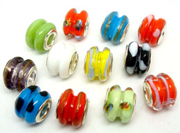 50pcs Lot Fashion Round double-deck Glass Beads for Jewelry Making Lampwork DIY Beads for Bracelet Wholesale in Bulk Low Price