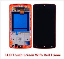 Promotion écran tactile google POUR GOOGLE NEXUS5 LCD Vitre d'écran avec flex Avec écran tactile écran tactile + Remplacement de cadre Pour Google Nexus 5 pièces de réparation de rénovation