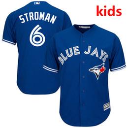Youth  Kid's Toronto Blue Jays Marcus Stroman White Home Cool Base Baseball Jersey