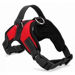 Wholesale Collars For Big Dogs - Hot Big Dog Soft Adjustable Harness Pet Large Dog Walk Out Harness Vest Collar Hand Strap for Small and Large Dogs Pitbulls