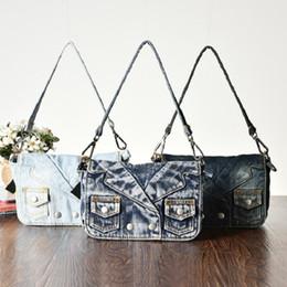New Vintage cute Fashion bolsa feminina coat button Denim Jean Women HandBags Evening Shoulder Bags Tote For Female Free Shipping