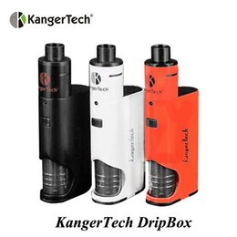 Wholesale electronic cigarettl kanger dripbox kit with max W output ml Juice capacity battery drive ohm coil VS terminator mod starter kit