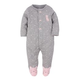 Wholesale 2016 baby clothes baby girl clothes romper autumn long sleeve bag feet ha garments Baby jumpsuit cotton