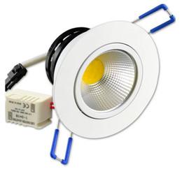 Встраиваемые светодиодные панели COB Потолочные прожекторы AC 85 ~ 265В 12W 9W 7W 5W 3W для ванной комнаты Освещение в спальне Lampara Теплый белый Холодный белый CE ROSH от Поставщики lampara панель