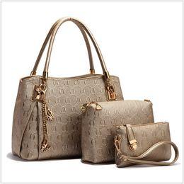 Wholesale High Quality Fashion PU Leather Women Handbag Messenger Bags Purse Sets Big Capacity Printing Luxury Designer Sac A Main TRD