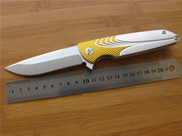 Wholesale Brian Nadeau Typhoon Flipper Stonewashed D2 Spear Point Blade Gold Sliver ALU SHEET Handle Ball Bearing Tactical Survival Folding Knife