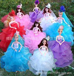 Muñecas del bjd en venta-2016 muñeca Barbie figura BJD Muñecas con hermoso vestido de boda cuerpo articulación muñeca caliente artículo de juguete para niña regalo
