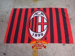 100% polyester 90*150cm,Associazione Calcio Milan Italy football Flag ACM,Digital Printing