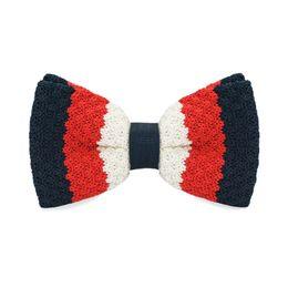 Men's Tuxedo Adjustable Stripe Bow Tie Party Business Casual cotton Bow Tie Gift Box Men's Fashion Accessories F-323