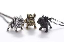 1Pcs Realistic French Bulldog Necklaces Miniature Animal Shaped Pendant Necklace