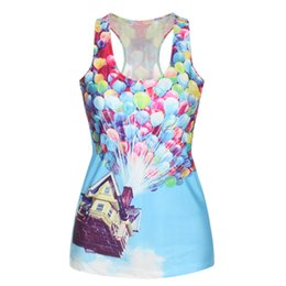 Wholesale Fashion trend MS vest D balloon house cartoon anime Cartoon New Sexy Casual hand pattern printing Tank Tops WT