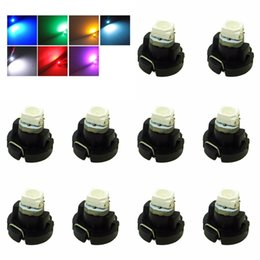 Wholesale Car Lighting T5 Bulbs - T3 LED 3528 SMD Car Cluster Gauges Dashboard White   Ice Blue   Blue   Red   Pink   Green instruments panel Light bulbs