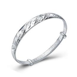 925 Silver Bangle Dragon And Phoenix Play Bracelets Opening Fashion Women Fine Jewelry 925 Silver Bangles