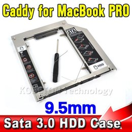 Wholesale Aluminum SATA to Sata nd HDD Caddy SSD Case Enclosure Optibay for Apple Macbook Pro Air Unibody quot quot quot A1278 A1286
