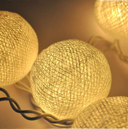 3M 20 LED Fabric Cotton Ball indoor string lights for Chrismas tree,decoration lamp