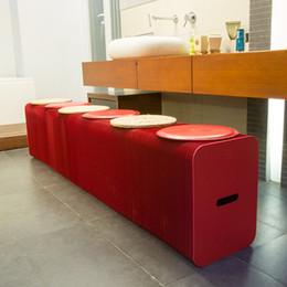 H42cm x L300cm Innovation Furniture Pop - Smart Bench Indoor Universal Waterproof Accordion Style Kraft Portable Sofa for 6 Seats 71-1023