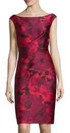 Fashion Flower Print Women Sheath Dress Sleeveless Casual Dresses 053070