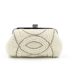 Wholesale 2016 Top Quality Generous Diamond Pearls Totes Boutique Luxury Evening Handbag Fashion Special Occasions Handbag Bridal Hand Bags
