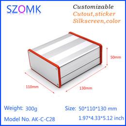 Wholesale 1 pc szokm anodizing extruded aluminum cabinet enclosure for pcb with silicone rings mm aluminium case junction box AK C C28