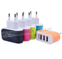 Hot selling 3.1A Triple USB Port Wall Home Travel AC Charger Adapter For S6 EU Plug High Quality