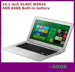 14 INCH 14.1 inch ultrabook slim laptop computer Itel Atom X5-Z8300 Z140C Quad-core laptop 4GB 64GB WIFI Windows 10 laptop notebook DHL