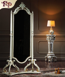 Antique reproduction classic solid wood bedroom furniture -European classic furniture- Dressing mirror