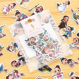 Wholesale 40pcs pack New Kawaii Ballet Girl series PET Sticker pack hot sell deco packing stickers school office supplies dandys