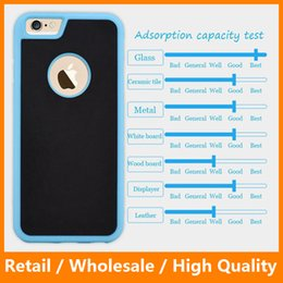 Wholesale Tough Shield Anti Gravity Hybird Soft TPU Hard PC Back Cover for iPhone5 s SE s Plus sPlus Samsung s6 s6edge Adsorption Case