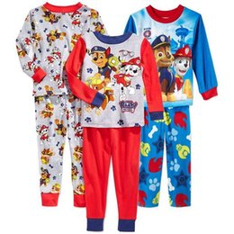 Wholesale kids Pajamas baby Cotton Cartoon Long sleeve Clothes Trousers Homewear Suit paw patrol Boys Girls Snow Slide Children Clothing