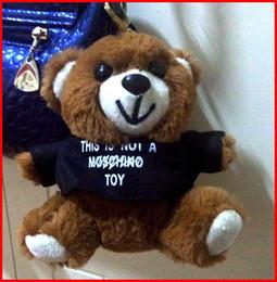 Wholesale Teddy Bear Small Toy Plush Pendant Moss Tactic Dress Bags Decoration Chino Plush Doll T shirt energy bear TOY005