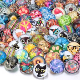 Hot wholesale 50pcs lot High quality Mix Many styles 18mm Glass Snap Button Charm Rhinestone Styles Button Ginger Snaps Jewelry