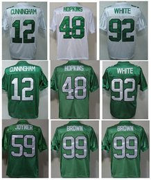 Wholesale Randall Cunningham Jersey DeMeco Ryans Throwback Football Jersey Wes Hopkins Reggie White