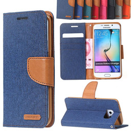 Wholesale Mercury Magnetic wallet book Leather Stand Cover case for flip Samsung Galaxy S6 EDGE Edge Plus mobile phone funda coque cases