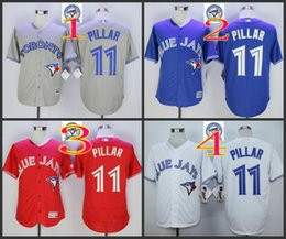 Wholesale 2016 Majestic Official Cool Base MLB Stitched th Season Toronto Blue Jays Kevin Pillar White BLue Red Gray Jerseys Mix Order